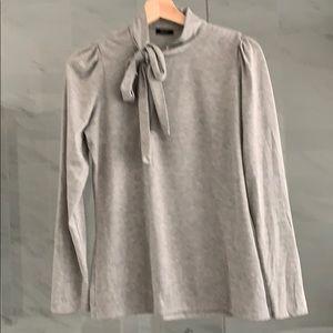 Cute vintage light grey Esprit side tie top